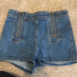 Free people front zipper shorts